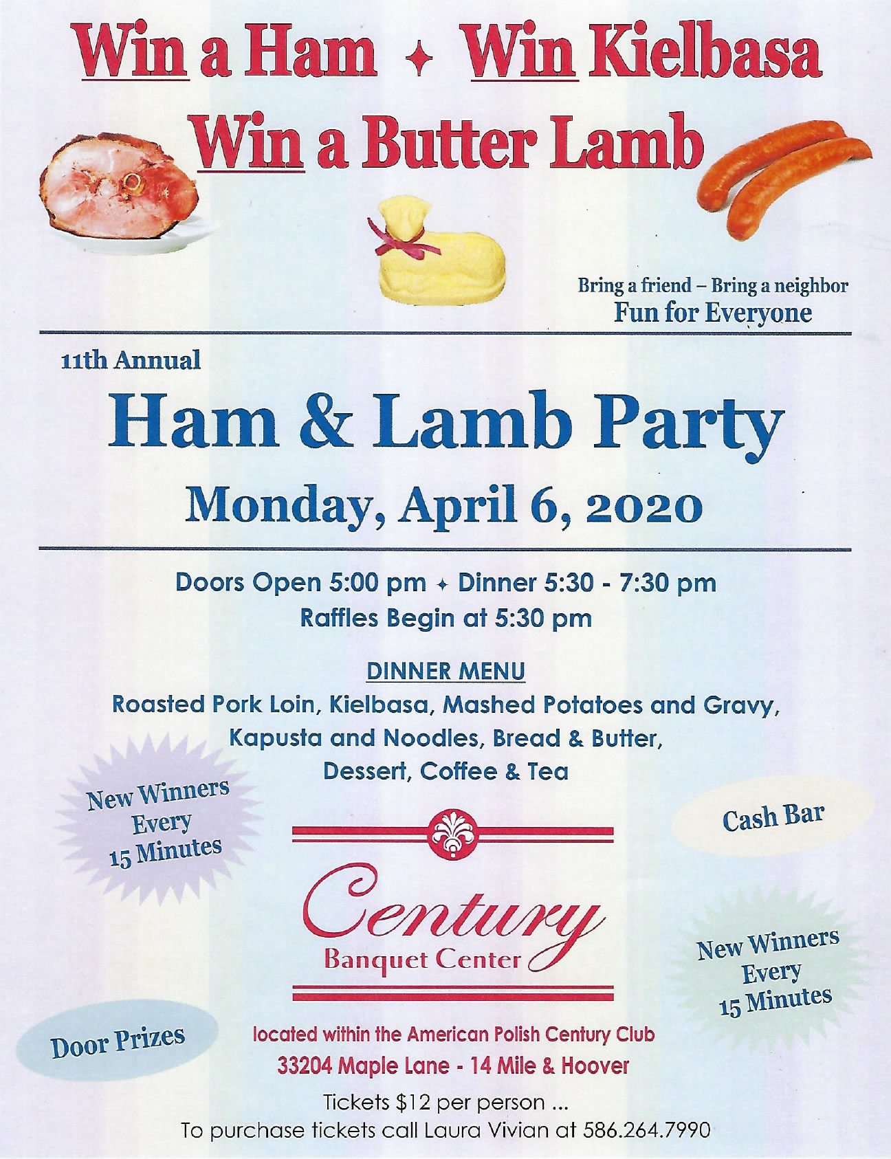 11th Annual Ham & Lamb Party