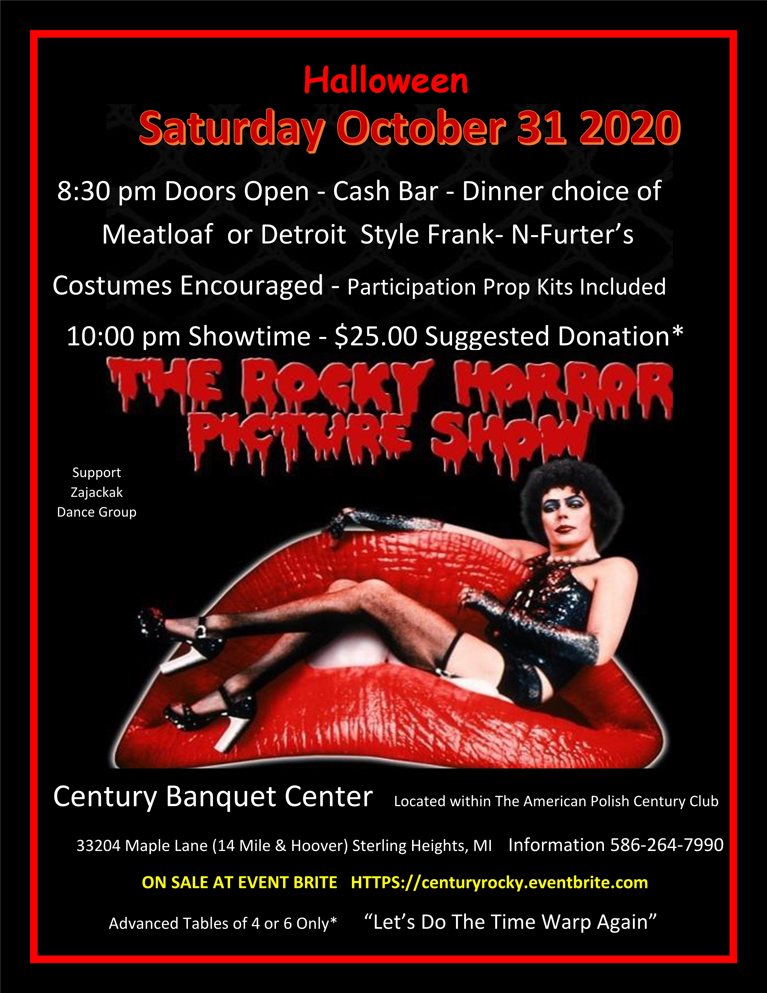 The Rocky Horror Picture Show @ Century Banquet Center